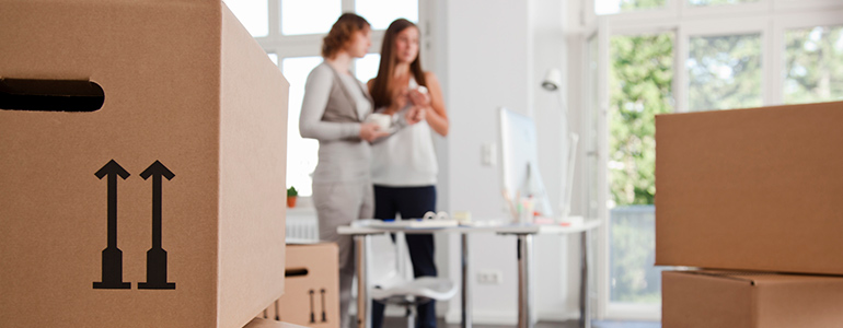 Moving office cleaning services